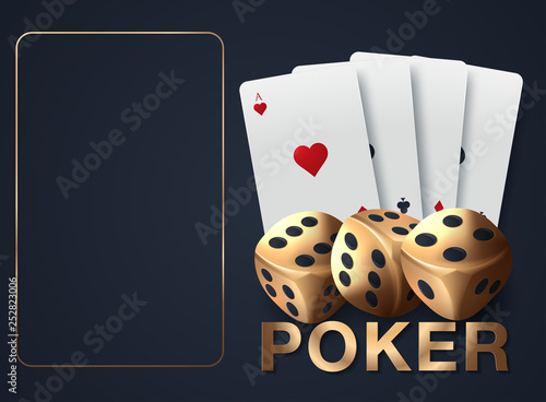 Foto  Playing cards and poker chips fly casino
