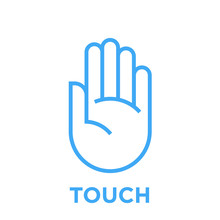 Hand Icon. Touch Symbol. Human...