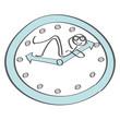 Pause - Strichmännchen nimmt sich eine Auszeit