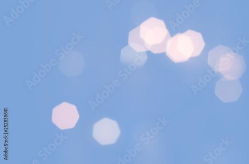 Blue Bokeh Blurred Abstract Light Wallpaper Background