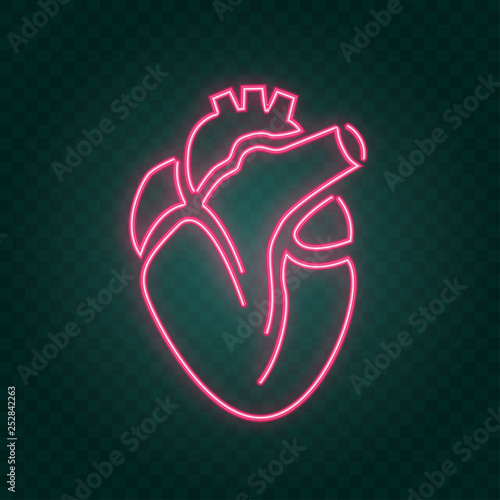 Garden Poster Retro sign real heart neon sign