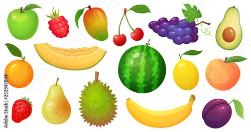 Obraz na plátně Cartoon fruits