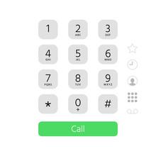 Dial Keypad. Touchscreen Phone...