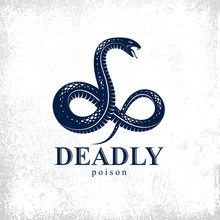 Snake Vector Logo Emblem Or Ta...