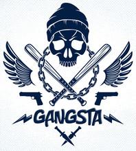 Brutal Gangster Emblem Or Logo...