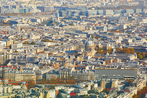 Fototapeta Aerial scenic view of central Paris