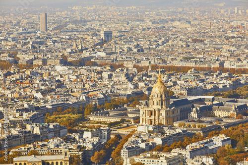 Fényképezés Aerial scenic view of central Paris
