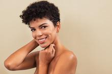 Beauty Brazilian Woman Smiling