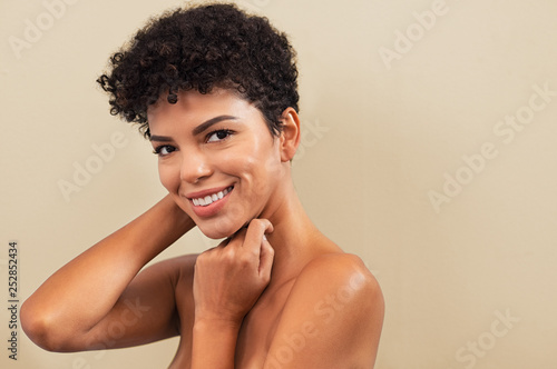 Photo Beauty brazilian woman smiling