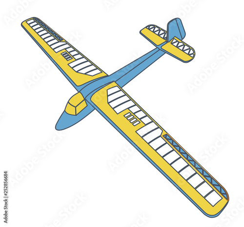 Outlined glider, beautiful subtle airplane model  Balsa wood