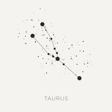 Star Constellation Zodiac Taurus Black White Vector