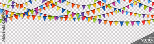 seamless colored garlands party background Canvas Print