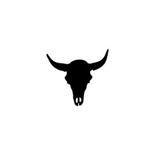 Cow Skull Icon Vector. Cow Skull Sign On White Background. Cow Skull Icon For Web And App