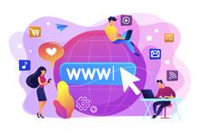 Internet Addiction Concept Vector Illustration.