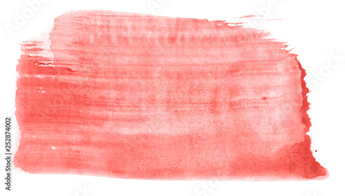 Fototapety, obrazy: Abstract watercolor background hand-drawn on paper. Volumetric smoke elements. Red color. For design, web, card, text, decoration, surfaces.