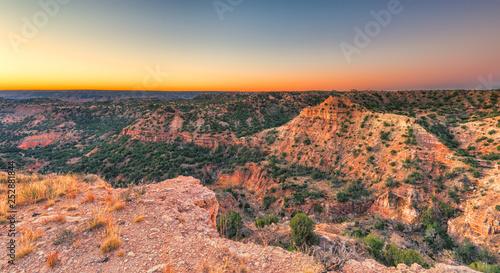 Fotografia  Sunrise at Palo Duro Canyon, TX