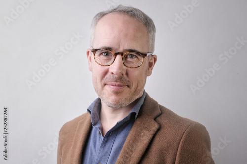 Stampa su Tela Smart businessman smiling
