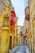 Old Corner Sculpture In Rabat, Malta