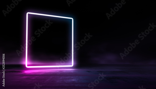 Obraz na plátně Glowing lines vibrant colors abstract background