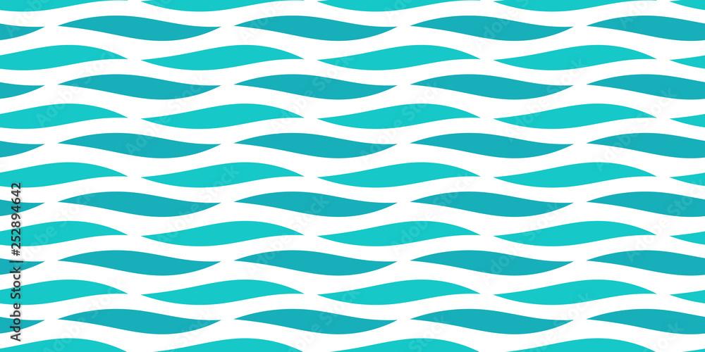 Fototapety, obrazy: Water sea waves seamless pattern.