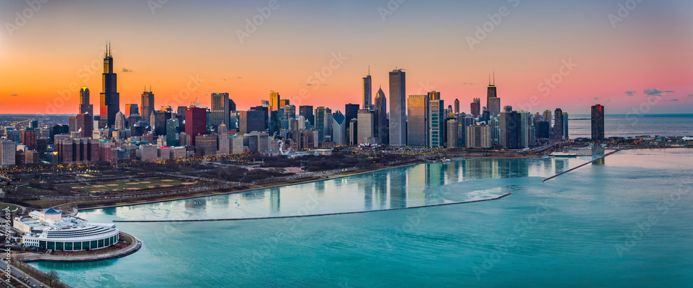 Fototapety, obrazy: Beautiful Sunsets Chicago