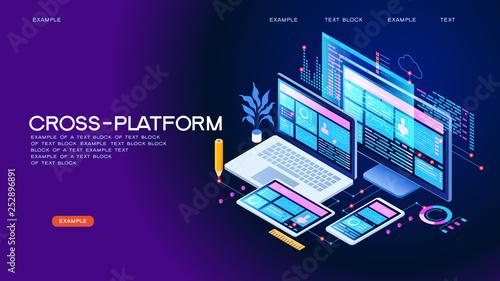 Fotografía  Cross-platform concept banner