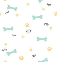 Seamless Pattern With Dog Them...
