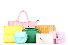 Fashion Handbags Isolated On W...