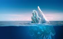 Ice In Water, Iceberg In Blue ...