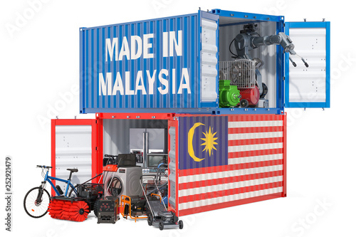 Keuken foto achterwand Route 66 Production and shipping of electronic and appliances from Malaysia, 3D rendering