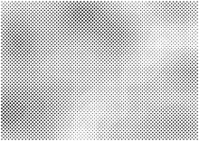 Modern Screen Print Texture, Soft Halftone Texture, Abstract Halftone Background, Vector Illustration In Black And White