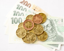 Czech Money Coins And Banknotes