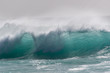 Capo Verde ocean waves seen from the beach
