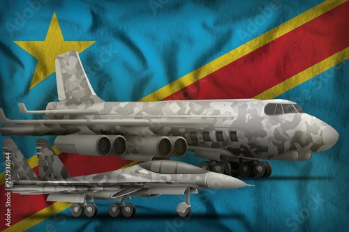 Fotografía  Democratic Republic of Congo air forces concept on the state flag background