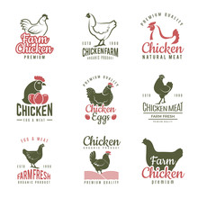 Pollo Labels. Fast Food Chicke...