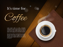 Coffee Time Poster. Advertizin...