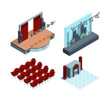 Theater Stage Isometric. Opera...