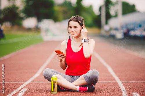 Fotografia  theme healthy lifestyle, sports music