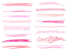 Hand Drawn Colorful Underlines...