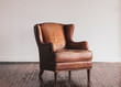 canvas print picture - Antique Leather Chair