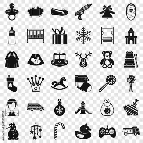 Fotografía  Childhood icons set