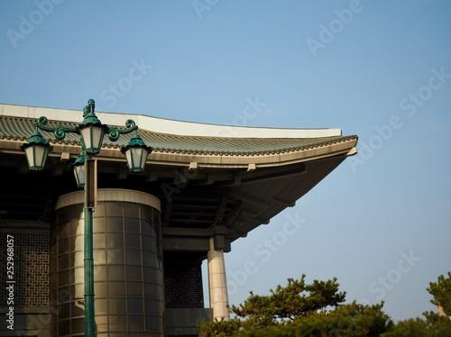 Fotografie, Obraz  한국의 가로등과 하늘