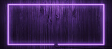 Neon Light On Wooden Wall Back...