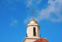 Beautiful Church Tower With Go...