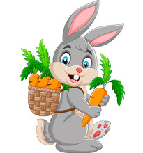 Easter Bunny Carrying Basket F...