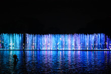 Blue LED Light Water Fountain