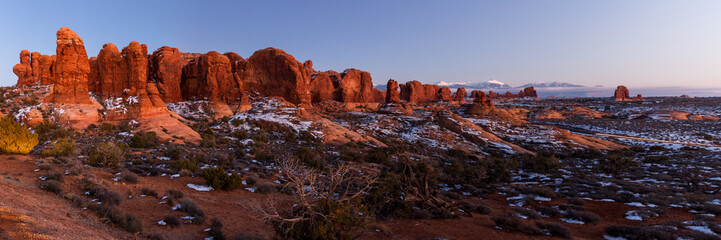 Landscape in Arches National Park
