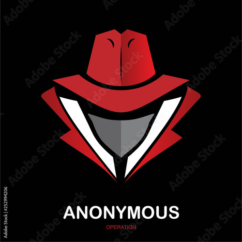 Tablou Canvas anonymous, hacker