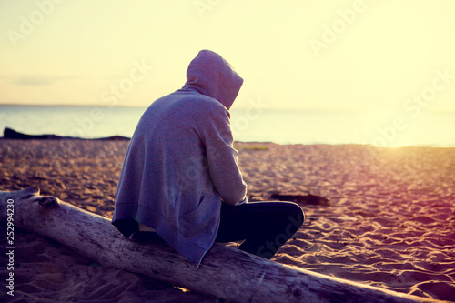 Photo Lonely Man outdoor