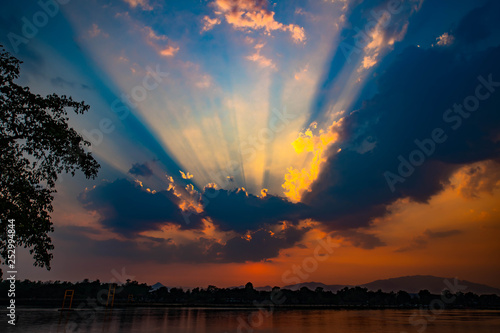 Canvas Prints Heaven Sunset Beautiful evening in Thailand